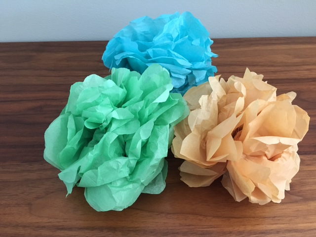 Making Tissue Paper Flowers: No Water Needed