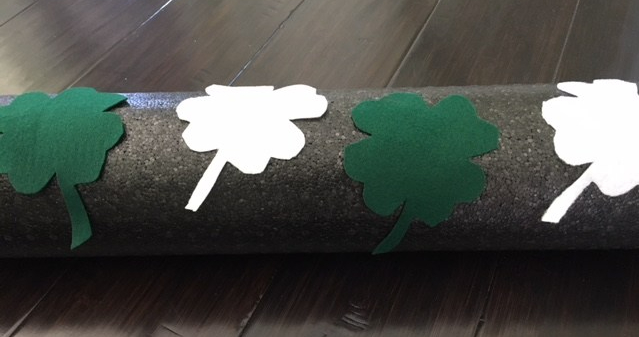 Decorate a Foam Roller for St. Patrick'sDay