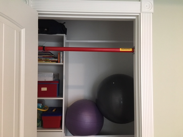 "The Closet ""Needs"" a Chin-UpBar"