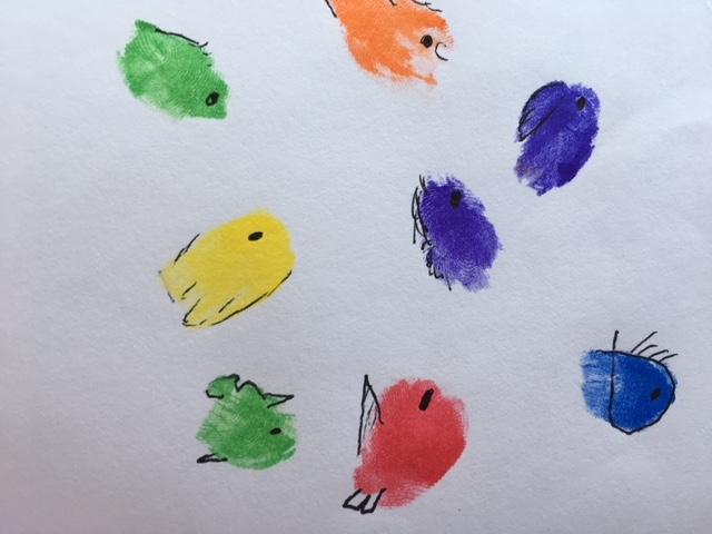 Craft Alert: Abstract Fish Art Created at a SwimMeet