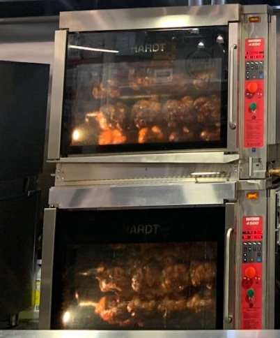 Rotisserie chickens at Costco. Photo by Cecilia Kennedy