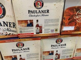 Paulaner Oktoberfest on sale at Costco. Photo by Cecilia Kennedy.