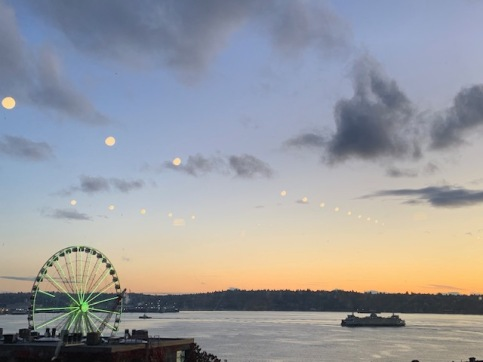 View of the Puget Sound from inside Pike's Market. Photo by Cecilia Kennedy