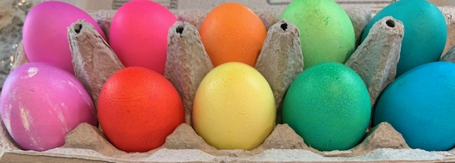 Easter eggs in glorious colors.